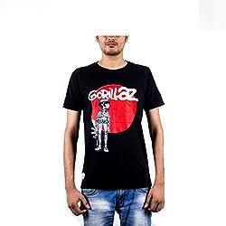 Punchtattva Men's Cotton T-shirt ( PCH3-L_Black )