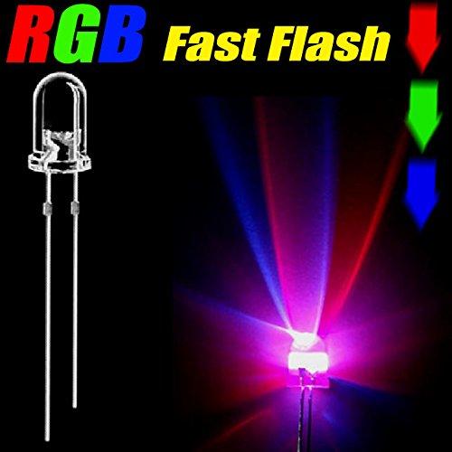 100Pcs 3Mm Fast Rgb Led Light 3Mm Change Color Fast Rgb Light