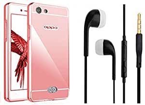 Novo Style Back Cover Case with Bumper Frame Case for OPPO Neo 5 Rose Gold + Earphone / Handsfree with 3.5mm jack