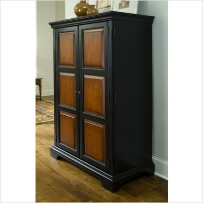Buy Riverside Furniture 71085 Summit Computer Armoire In Madera Cherry And  Antique Black Now