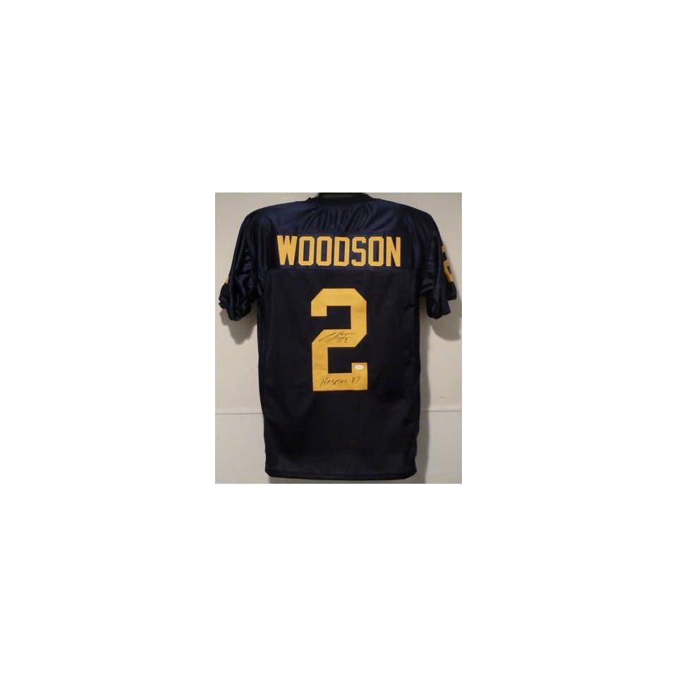 com Charles Woodson Autographed Michigan Wolveriens Jersey w Heisman ... b1073c496