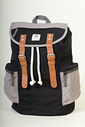 Ridgebake zaino caso MID LIAM BLACK ASH nero grigio Uomo Donna Bambini Laptop Backpack
