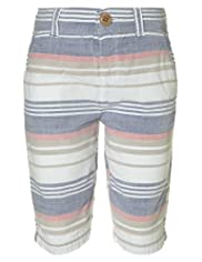Autograph Pure Cotton Striped Shorts