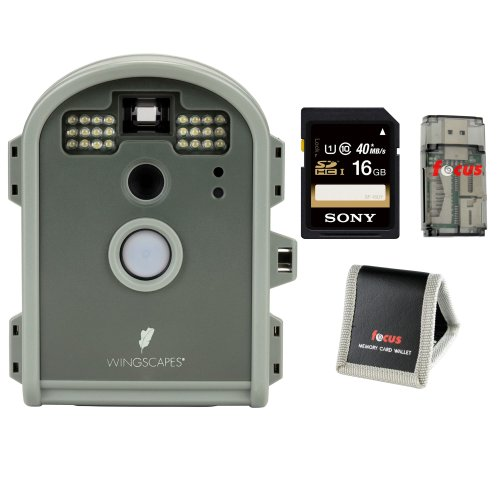 Wingscapes Wcb00116 Birdcam Pro Motion-Activated Bird Camera + Sony 16Gb Memory Card + Memory Card Wallet +Card Reader