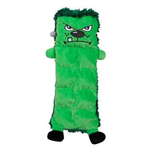 Outward Hound Kyjen  2559 Squeaker Mat Frankenstein Halloween Dog Toys, Medium, Green
