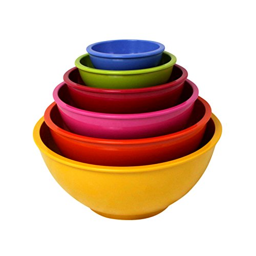 Zak Designs Assorted Yellow Bright, Set of 6 Bowls (Zak Designs Mixing Bowls compare prices)