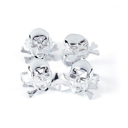 Plastic Pirate Skull Rings (4 dz)