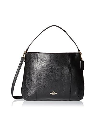 Coach Women's East/West Isabelle Shoulder Bag, Light Gold/Black