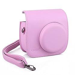 CAIUL Light Pink PU Leather Fujifilm Instax Mini 8 Case