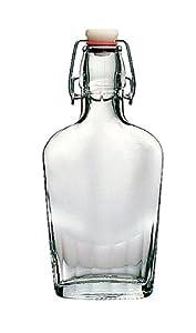 Bormioli Rocco Fiaschetta Glass Pocket Flask, 8.5 Ounce