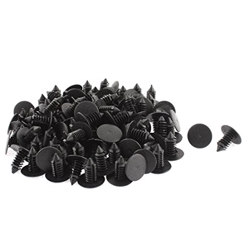 uxcell 100pcs 9mm x 8mm Plastic Rivet Fastener Fender Car Bumper Push Clip (Fender Guard For A Toyota Echo compare prices)
