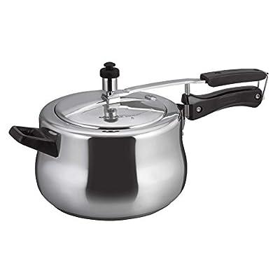 Alda Aluminium Pressure Cooker, 5 Litres, Silver