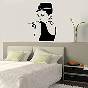 Great Value Wall Decor Audrey Hepburn DIY Removable Vinyl Wall Stickers Decal Wallpaper Art Home Decor by Mzamzi