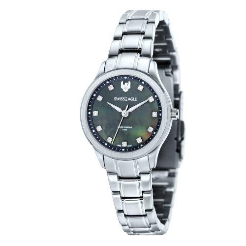 Swiss Eagle SE-6047-44 - Reloj para mujeres, correa de acero inoxidable