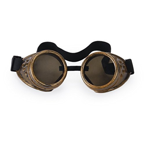 Vintage Rustic Cyber Goggles Steampunk Welding Goth Cosplay Photos by Gleader