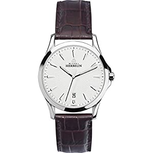 Men's Watch - Michel Herbelin Lyre - Leather Band - Sapphire Crystal - 12213/12MA