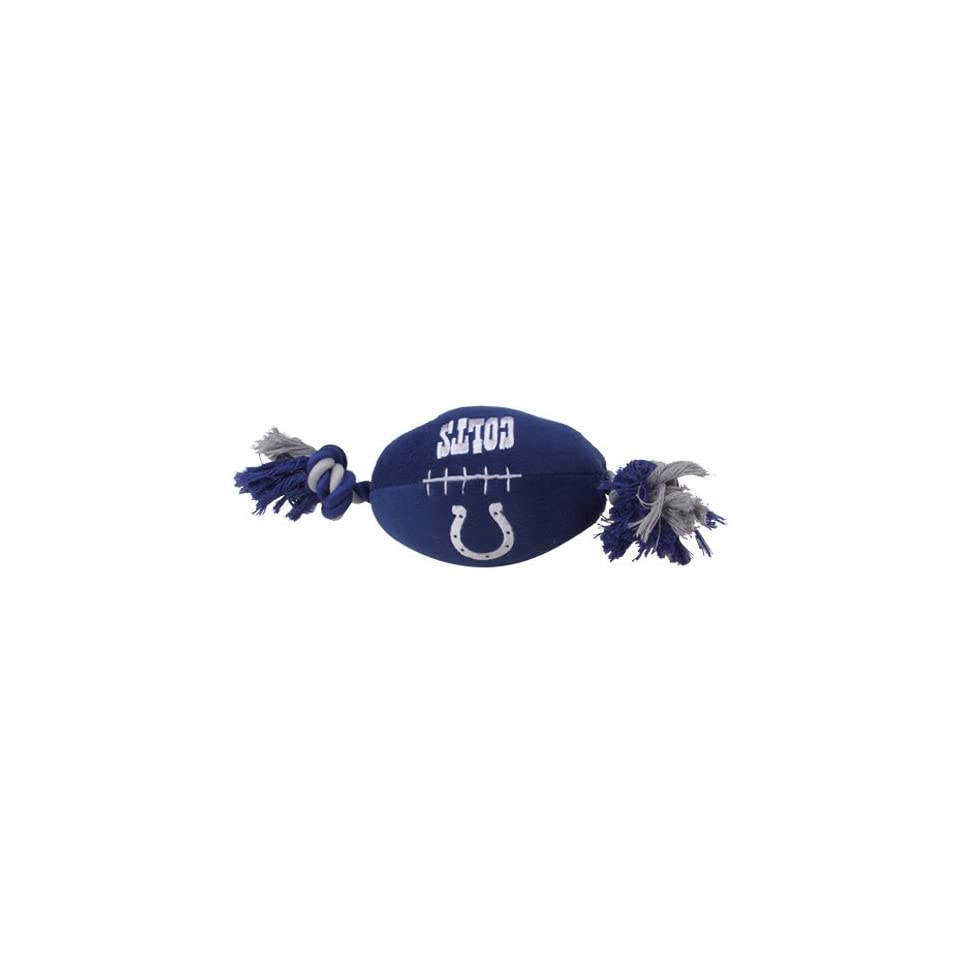 Pets First Indianapolis Colts Pet Football Rope Toy, 6 Inch long