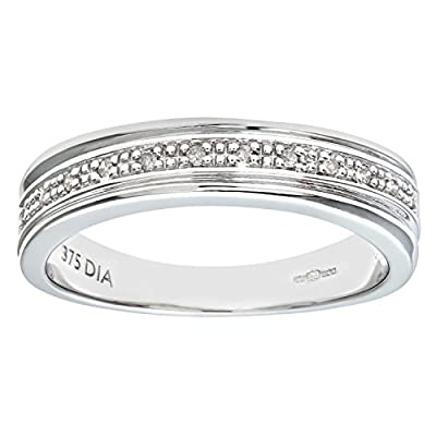 Ariel Women's 9ct Diamond Wedding Ring