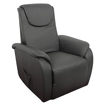 RR Design - Poltrona RELAX SARA alzapersona e massaggio nera