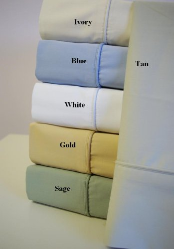 Luxury Bamboo Cotton Solid Gold Queen Size Sheet Set By Sheetsnthings front-1063886