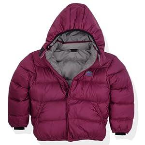 Molehill Kids Down Hooded Jacket (700 Down Fill), Berry, 3T