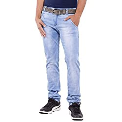 URBAN FAITH Light Blue Men's Designer Jeans