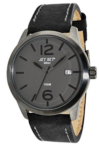 Jet Set 15238 J6380B-262 - Orologio da polso da uomo, cinturino in pelle colore nero