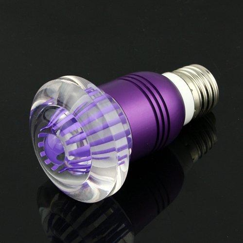 E27 Crystal Glass Umbrella 16 Color Change Rgb 3W Led Light Bulb Lamp W/Remote Control