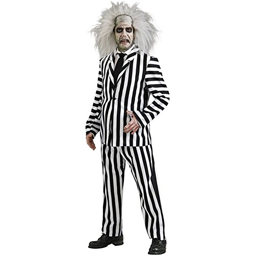 Deluxe Beetlejuice Costume - X-Large - Chest Size 44-46