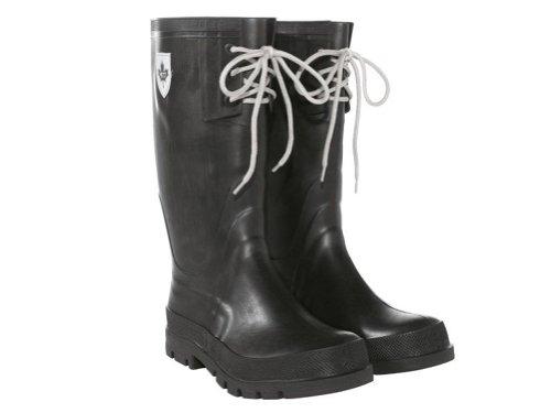 Damen-Regenstiefel-Gr-38-Schwarz-Wasserdicht-klte-wrme-UV-bestndig