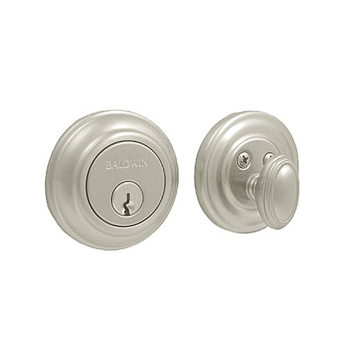 Baldwin 8231.150 Traditional Deadbolt 2-1/8-Inch Door Prep, Satin Nickel