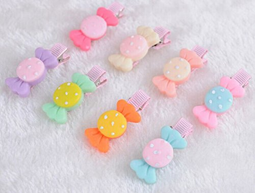 8pcs Candy Hair Claw Clip