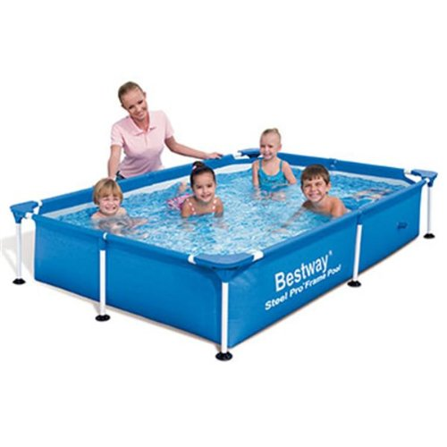 "Bestway 56040 Frame Pool Stahlrahmenbecken 221 x 150 x 43 cm ""Splash Junior"""