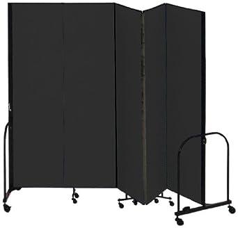 Screenflex cfsl685 dx commercial portable room divider 5 for Industrial room dividers