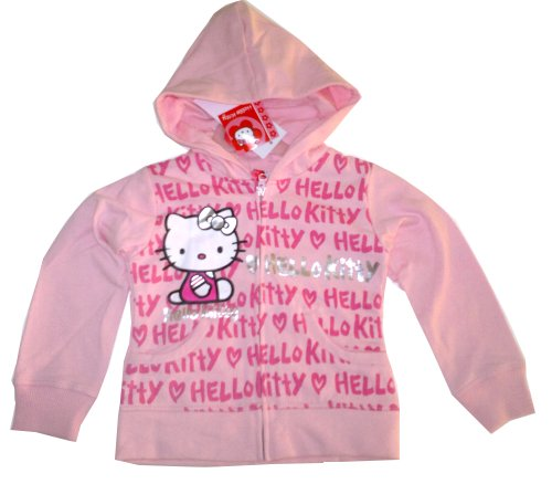 Hello Kitty Zip Through Sweatshirt / Hoody - rose
