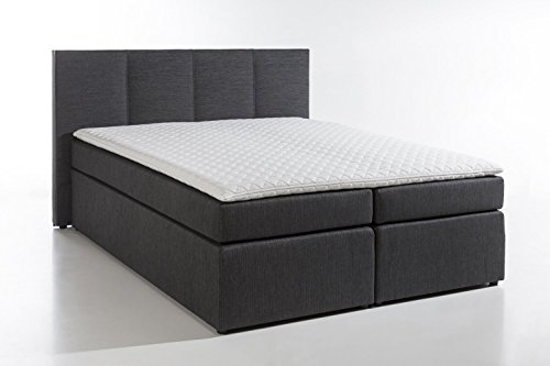 m belfreude boxspringbett 39 kaz 1 39 bonell taschenfederkern mit visco topper boxspring bett. Black Bedroom Furniture Sets. Home Design Ideas