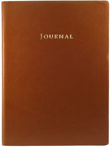 Tan Embossed Leather Journal - LinedB001D45BVK