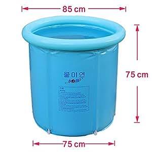 Amazon Com Happy Life Portable Plastic Bathtub Blue
