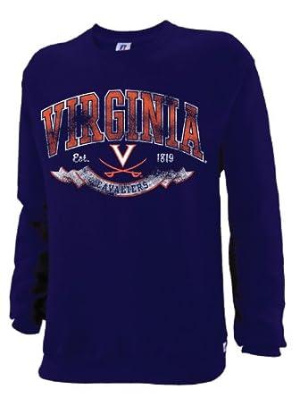 NCAA Virginia Cavaliers Mens Dri-Power Fleece Crew by Russell Athletic