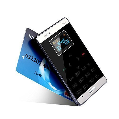 AIEK LASCOM INDIA ultra Slimmest ATM card Size GSM Touch Mobile Phone BLACK