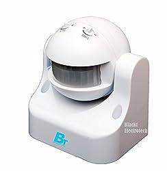 Blackt:PIR Motion sensor with Light Sensor, Energy Saving motion detector switch (Wall mounted)