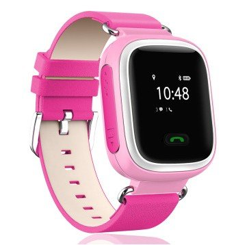 Neelam® Y01 Real GPS WiFi LBS Tracker Kids Smart Wrist Watch for GPS GPRS GSM System with Two Way Communication/SOS Surveillance/Alarms /Voice Remote Monitor /Remote Power Off for Children Pink