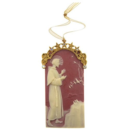 St. Francis of Assisi Cameo Christmas Ornament