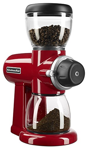 KitchenAid KCG0702ER Burr Coffee Grinder, Empire Red (Coffee Bean Grinder Red compare prices)