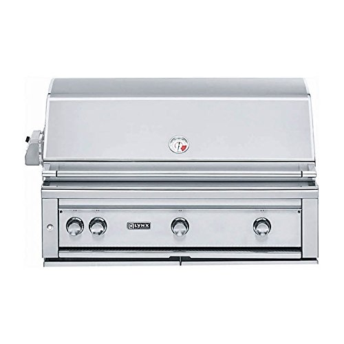 Lynx L42PSR-2-LP Built-In Propane Gas Grill with Pro Sear Burner and Rotisserie, 42-Inch