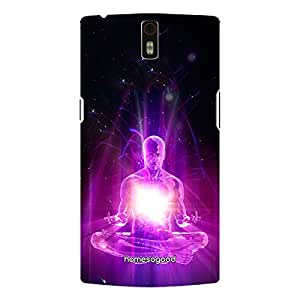 HomeSoGood Power Of Meditation Black 3D Mobile Case For OnePlus One (Back Cover)