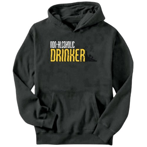 Non-Alcoholic Drinker Mens Hoodie