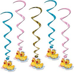 Just Duckie Whirls Party Accessory (1 Count) (5/Pkg) front-1017371