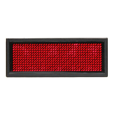 75Mw Red Led Mini Board / Led Name Card With Multi Modes Battery Powered