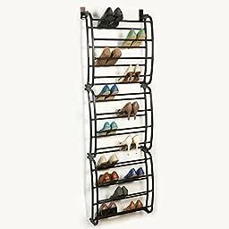 36 Pair Over the Door Shoe Rack Finish: Bronze by Richards Homewares